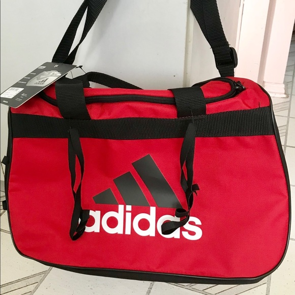 d72514c86ba adidas Bags | Small Duffel Bag Red Black | Poshmark